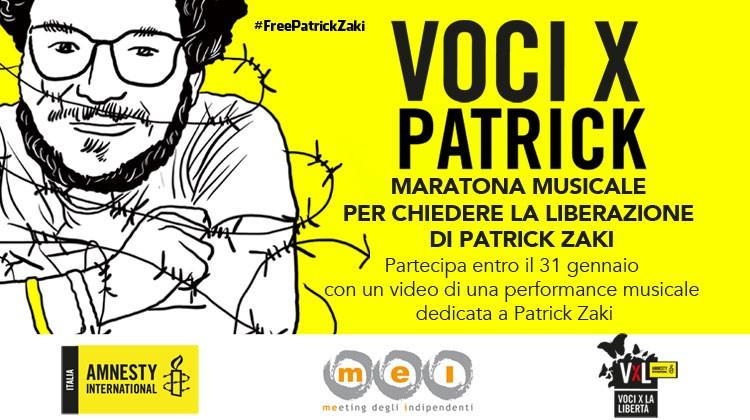 Voci X Patrick: la maratona musicale per la sua liberazione