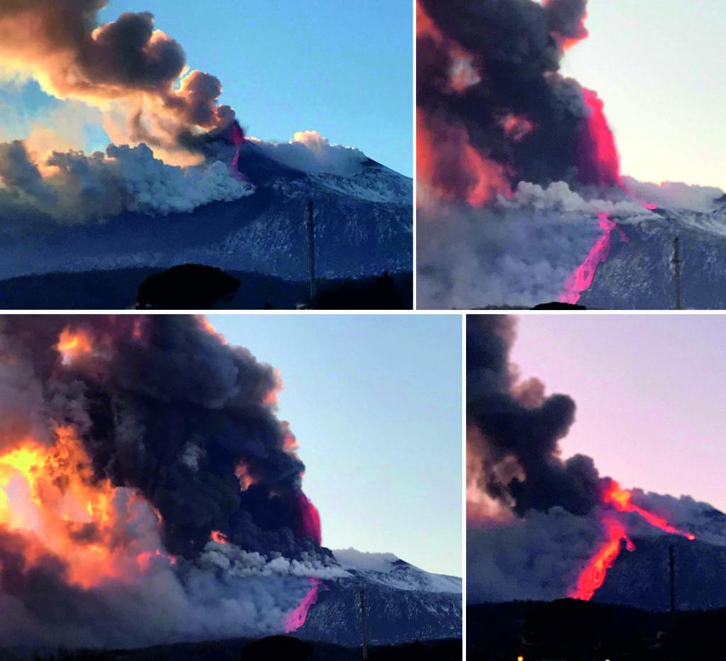 recenti eruzioni etna sicilia