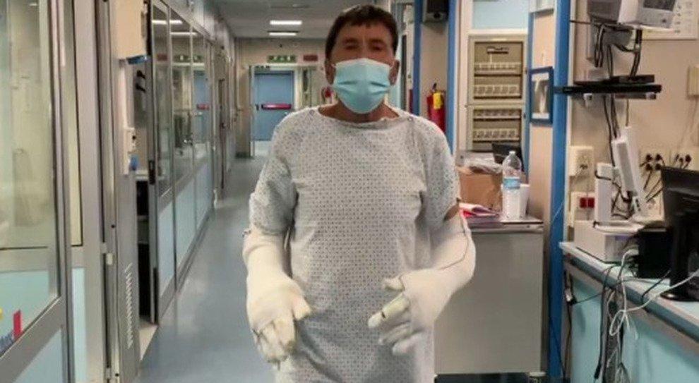 Gianni Morandi video ospedale