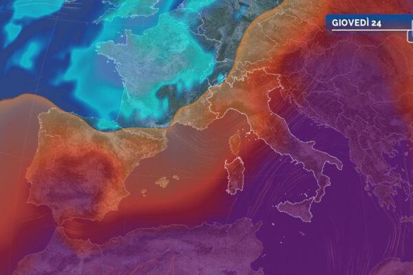 Caldo estremo al Sud, qualche temporale al Nord