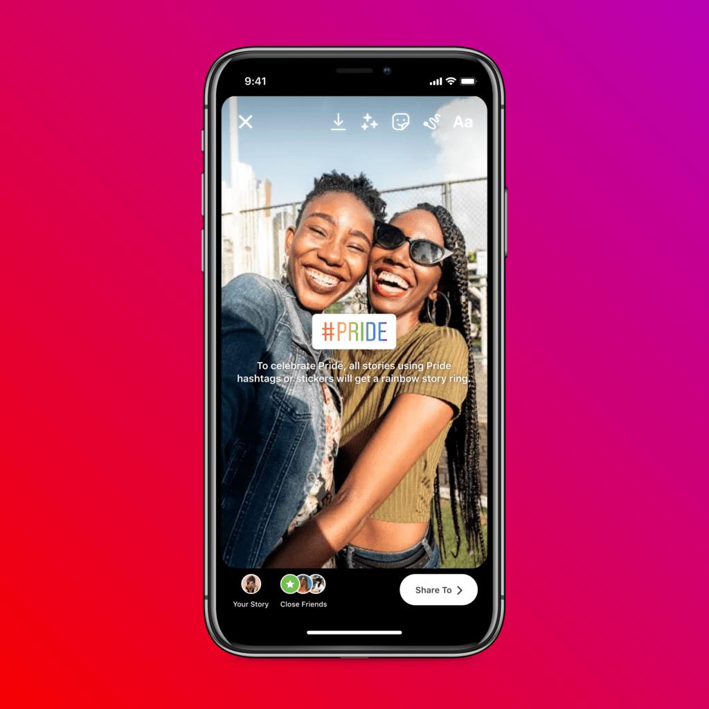 Gay Pride: i colori dell'arcobaleno su Facebook e Instagram