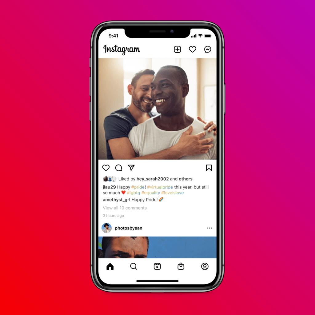 Facebook instagram arcobaleno pride