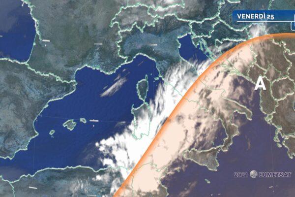 Caldo ancora inteso al Sud e rischio temporali al Nord