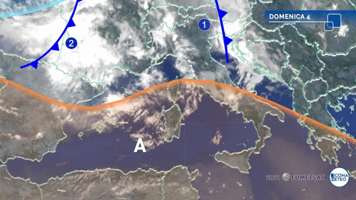 Intensa fase temporalesca in arrivo al Nord