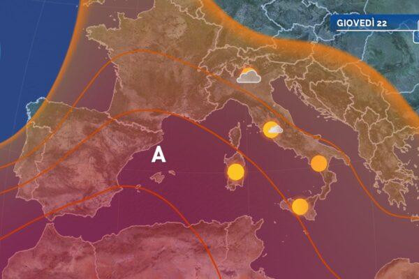 Meteo: nel week end arriva l'anticiclone africano
