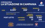 Positivi e vaccinati in Campania