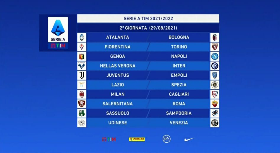 Nasce la Serie A 2021/2022, ecco il calendario