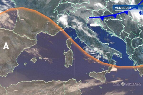 Perturbazione in arrivo nel weekend: rischio temporali anche forti al Nord