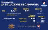 Positivi e vaccinati in Campania del 7 Agosto