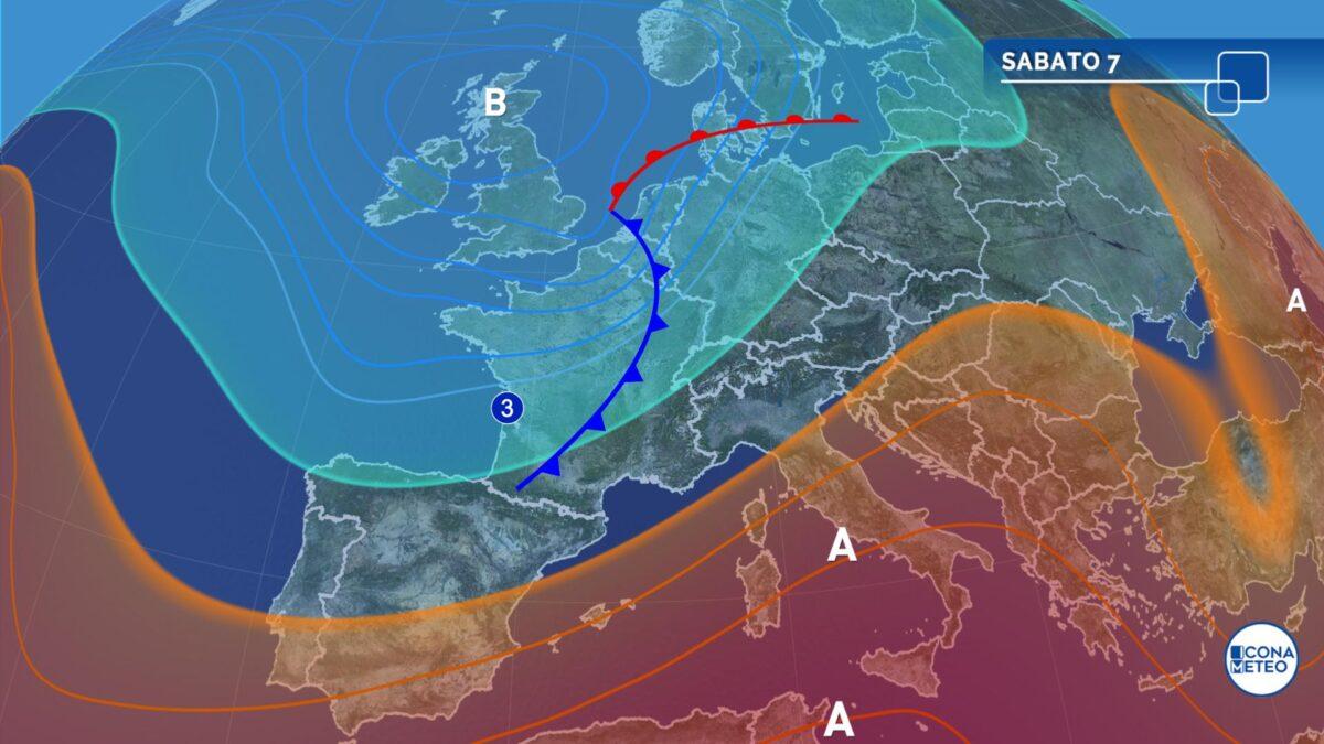 Nel primo weekend di Agosto temporali ma anche l'inizio della quarta ondata di caldo
