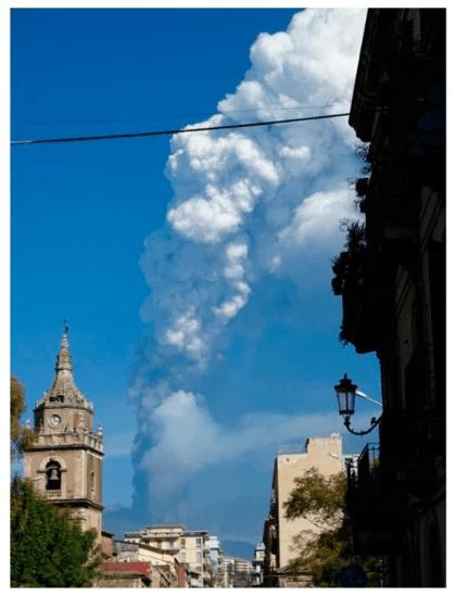 Etna: aanalizzata fontana di lava del 2021 e la formazione della colonna eruttiva