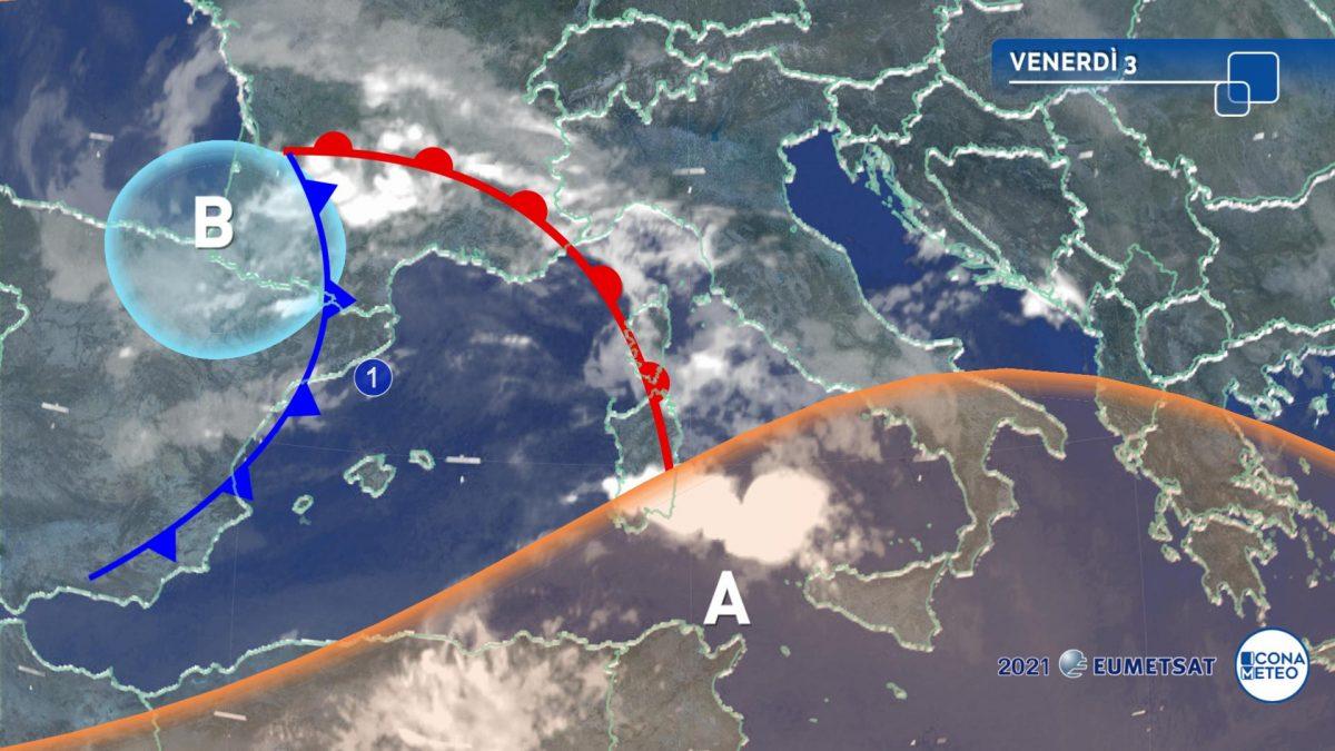 Meteo: tra la notte prossima e il weekend i temporali coinvolgeranno anche il centro-sud e la Sicilia