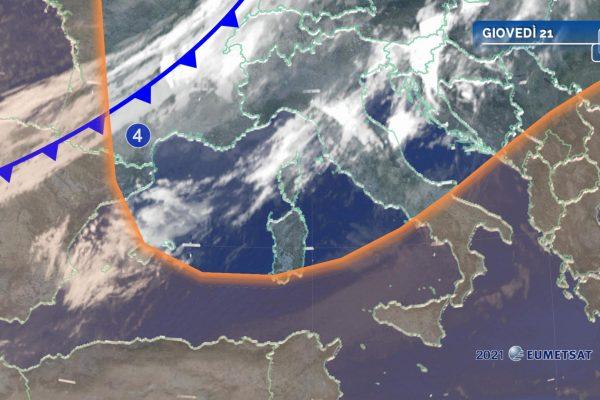 Fase instabile su parte dell'Italia
